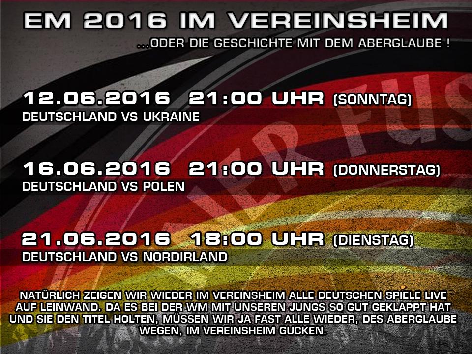 EM 2016 im Vereinsheim