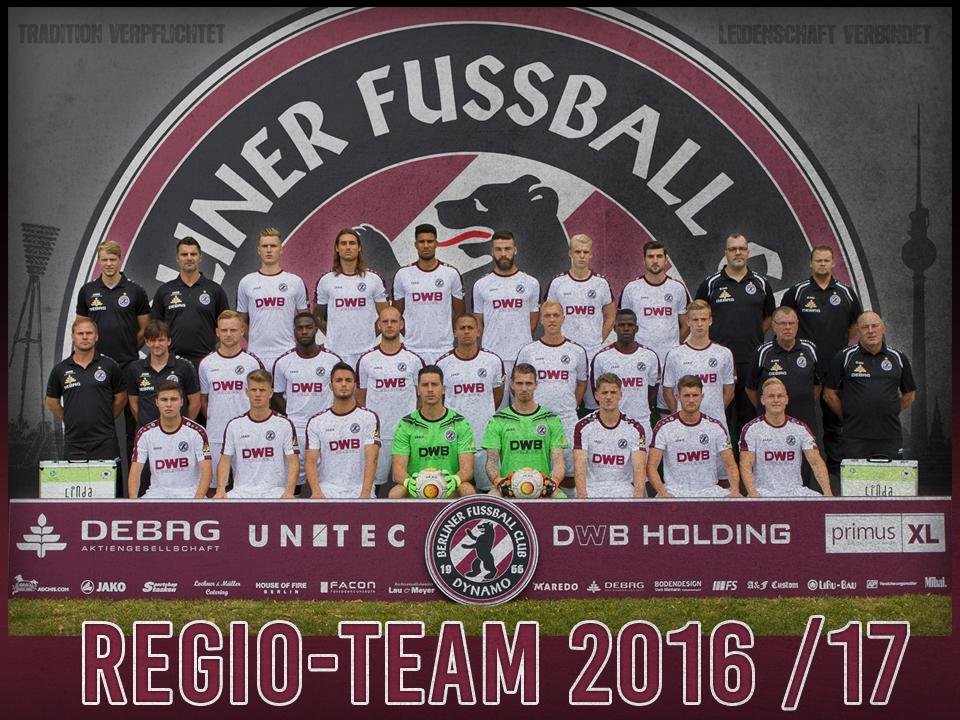 BFC DYNAMO Regionalliga-Team 2016/17
