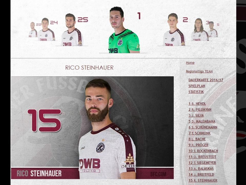 Regionalliga-Kader BFC DYNAMO 2016/17
