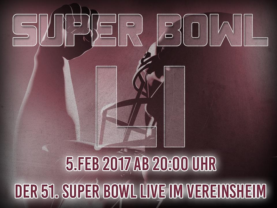 SUPERBOWL LIVE IM VEREINSHEIM 5.Feb.2017