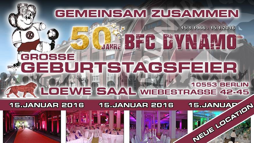 Der BFC Dynamo erwartet viele Ehrengäste...