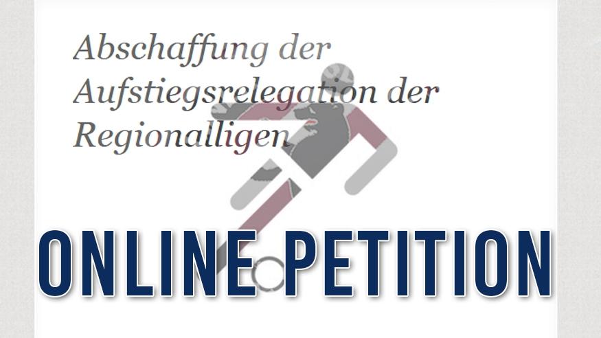 Online-Petition: Abschaffung der Aufstiegsrelegation der Regionalligen