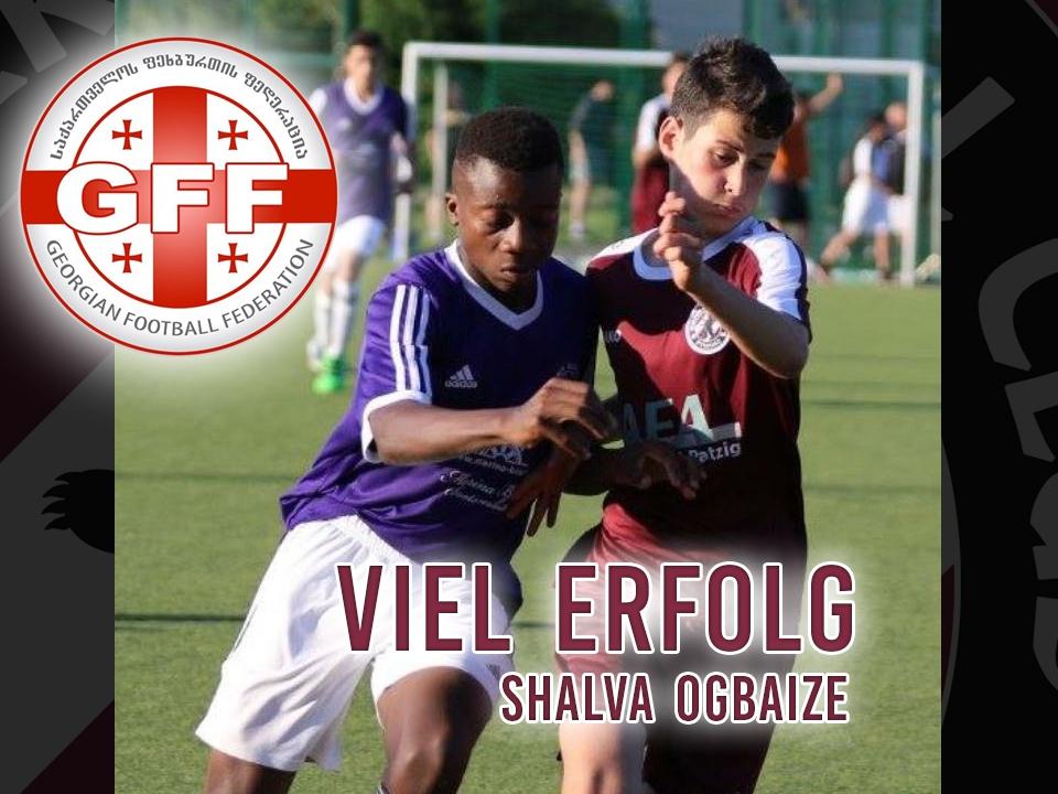 Shalva Ogbaize: Berufung in die U16 des georgischen Fußballverbandes
