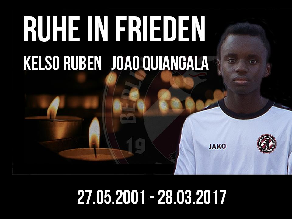 Kelso Ruben Joao Quiangala - Wurde leider nur 15 Jahre