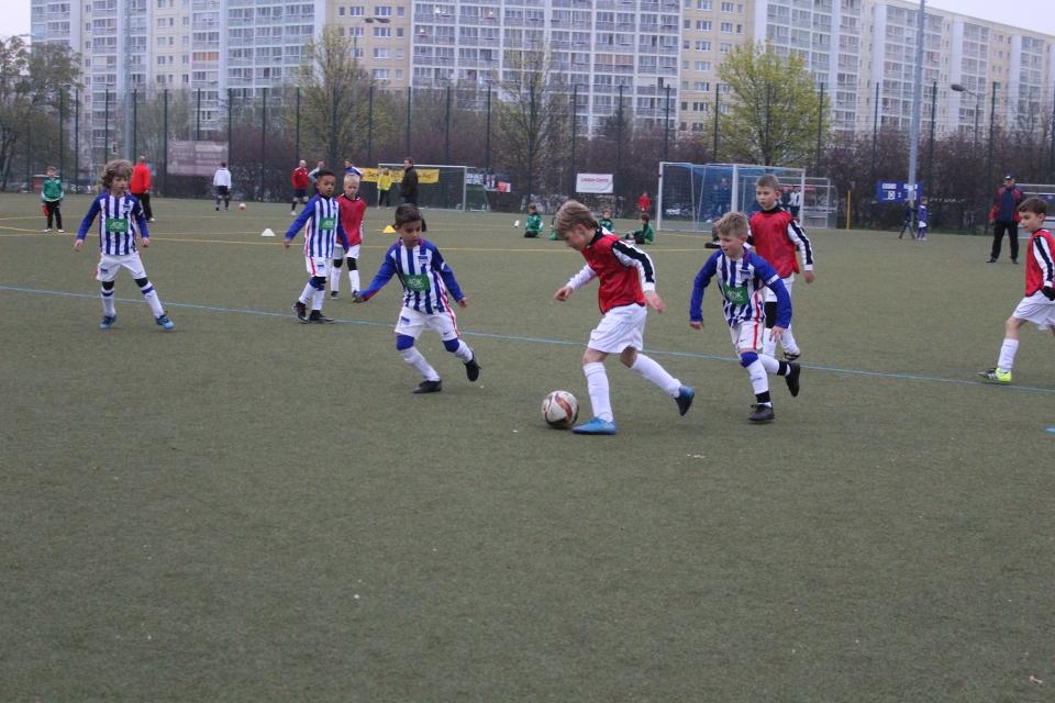 Spielszene aus dem Finale gegen Hertha BSC.