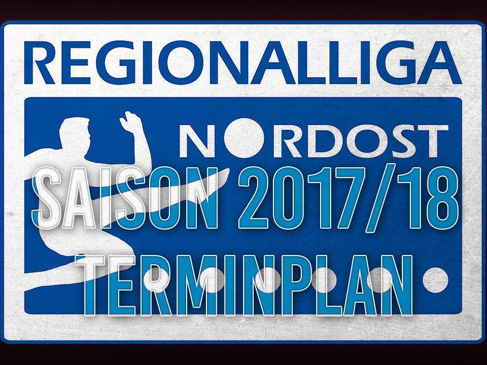 Die ersten 8 Spieltage der Regionalliga sind terminiert