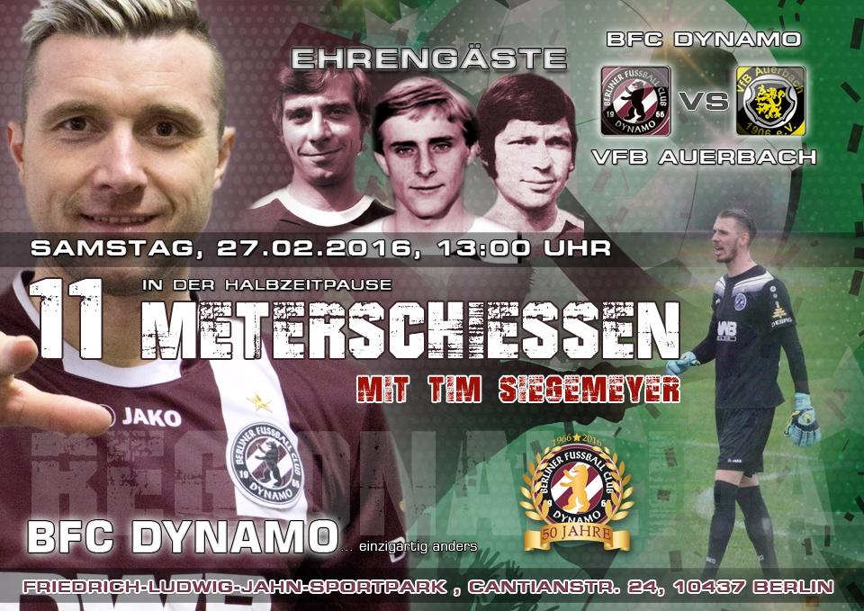 Halbzeitspaß beim Regionalliga-Spiel BFC DYNAMO - VfB Auerbach
