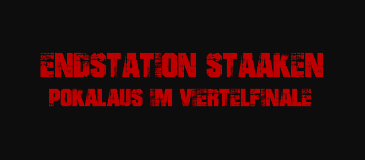 Pokalaus beim Berlin-Ligisten SC Staaken...