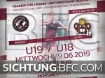 TALENTSICHTUNG U19 / U18 für die Saison 2019/20