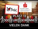 Aus Liebe zu Berlin - Eure Stimmen waren 1.000 Euro wert