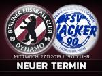 Heimspiel gegen Nordhausen neu terminiert