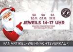 Fanartikel: Erster Weihnachtsverkauf am morgigen Samstag