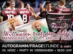 Vereinsheim: Mannschaft ist da, Erfurt fehlt