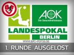 AOK-Landespokal: Auswärtsspiel in der 1. Hauptrunde