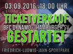 Jetzt Tickets gegen den HSV sichern!