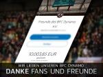 Unterstützung: Der BFC Dynamo sagt Danke