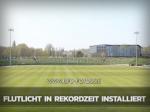 Sportforum: Flutlicht in Rekordzeit installiert