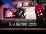 Fanartikel: Vier-Monats-Kalender 2022 jetzt bestellbar