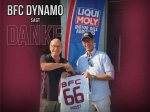 Der BFC DYNAMO bedankt sich beim Partner des Jubiläumsspiel, LIQUI MOLY