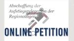 Petition - Abschaffung der Aufstiegsrelegation der Regionalligen