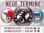 Nachholspiele gg Hertha BSC II und BAK terminiert