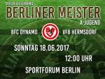 Ehrung - Berliner U19 Meister 2016/17 BFC DYNAMO