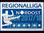 Regionalliga - Spiele bis zum 8.Spieltag terminiert