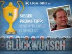 René Rydlewicz gewinnt Promi-Tipp bei liga-drei.de