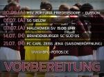Sommerfahrplan UPDATE - Saisoneröffnung gegen den FC Carl Zeiss Jena