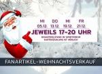 Fast Nikolaus verpennt? - Fanartikel-Weihnachtsverkauf nutzen!